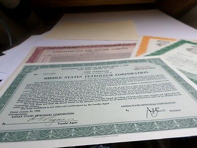 4 Pc. Lot Of Stock Certificates -1932-1955 Gas,petroleum And Engineering