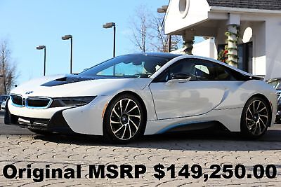 "2014 BMW i8 Pure Impulse World 2014 Pure Impulse World Crystal White with BMW Blue Auto 20"" Turbine Wheels"