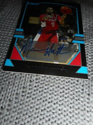 Marcus Hatten Signed Basketball Card Bowman Topps Certified Autograph Clippers