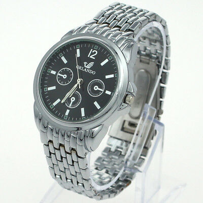 New Trendy Men Quartz Analog Stainless Wristwatch SN27H