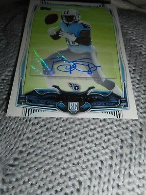 Signed Football Card Bishop Sankey Topps Rookie Certified Autograph Titans 2014