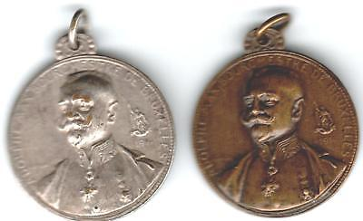 1914 Belgium Medals (2) to Honor Max Adolphe, by G. Devreese