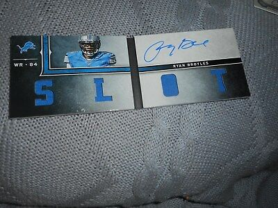 Signed Football Card Ryan Broyles Worn Patch Book Lions Autograph Panini 2013