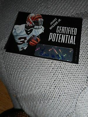 Signed Football Card James Wilder Serial #d Bengals Certified Autograph Panini
