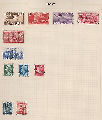 ITALY Collection Aerea, etc  On Album Page, Removed for Postage #