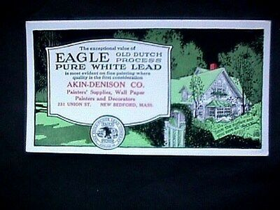 Eagle Pure White Lead Akin Denison New Bedford MA Advertising Blotter