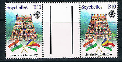 Seychelles 2016 India Day 1v GUTTER PAIRS MNH