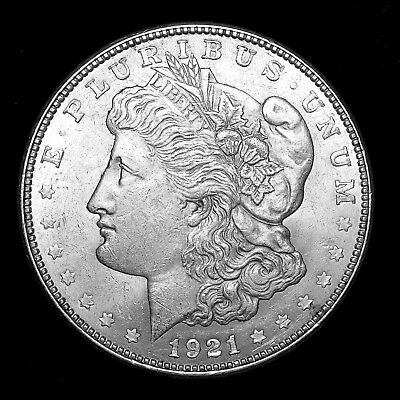 1921 D ~**ABOUT UNCIRCULATED AU**~ Silver Morgan Dollar Rare US Old Coin! #533