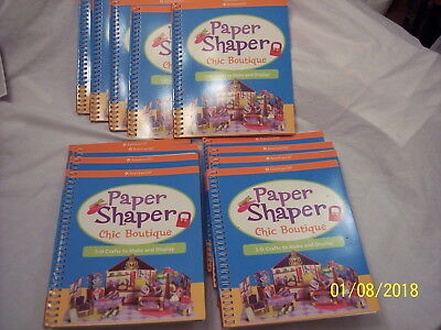 Lot Of13  American Girl Paper Shaper Chic Boutique-New-Make 3-D Crafts & Display