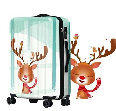 E734 Lock Universal Wheel Cartoon Milu Deer Travel Suitcase Luggage 20 Inches W
