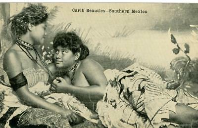 Mexico c.1910 Carib Beauties - Southern Mexico  H. H. Stratton unused postcard