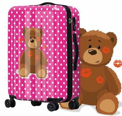 E115 New Lip Bear Universal Wheel Traveling Suitcase Luggage 28 Inches W