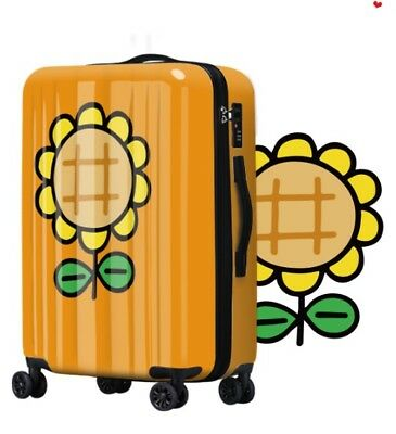 E129 Lock Universal Wheel Sunflower Travel Suitcase Luggage 24 Inches W