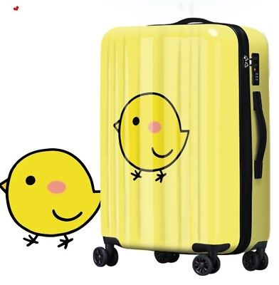 E137 Lock Universal Wheel Cartoon Chicken Travel Suitcase Luggage 20 Inches W