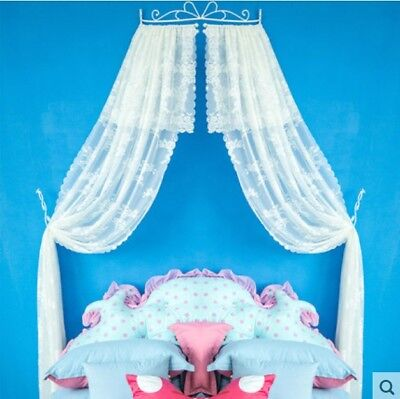 Double Size White Lace Ceiling Mosquito Net Bedding Bed Curtain Netting Canopy