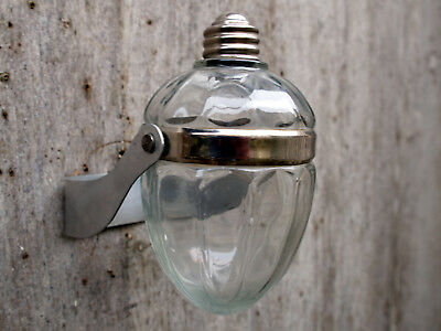 Rare French Art Deco Wall Mounted Soap Dispenser - Glass & Chrome
