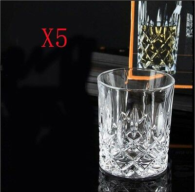 New 5X Capacity 295ML Height 98MM Lead Free Whisky Wine Glass/Glassware %