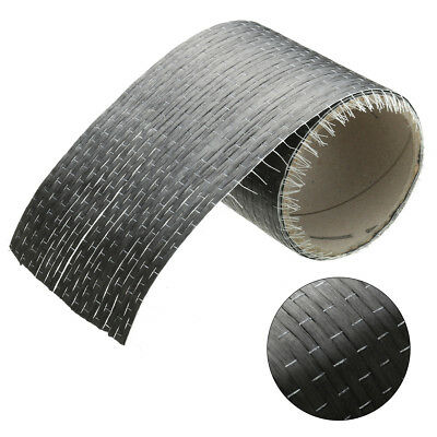 "12K 200gsm Real Carbon Fiber Fabric Cloth Tape UNI-Directional Weave 4"" x 72"""