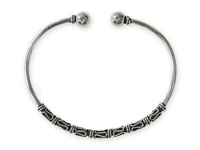 Bangle Silver 925 Viking Bangle Men's Women's Medieval Silver Jewellery