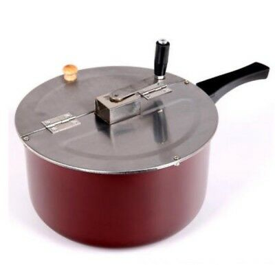 New Red Stainless Steel Non Stick Pan Commercial Household Popcorn Machine
