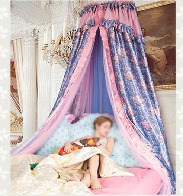 Queen Size Purple Ceiling Mosquito Net Bedding Bed Curtain Netting Canopy