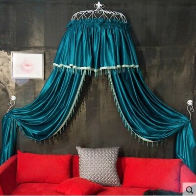 Queen Size Green Ceiling Mosquito Net Bedding Bed Curtain Netting Canopy