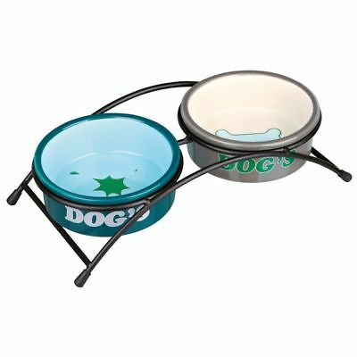 TRIXIE Set de Cuencos Eat On Feet 15 cm 1 L Comedero Bebedero Mascotas 24646