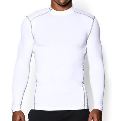 """Under Armour Shirt """"Cold Gear Armour Compression Mock"""" Sport Gym Fitness Laufen"""