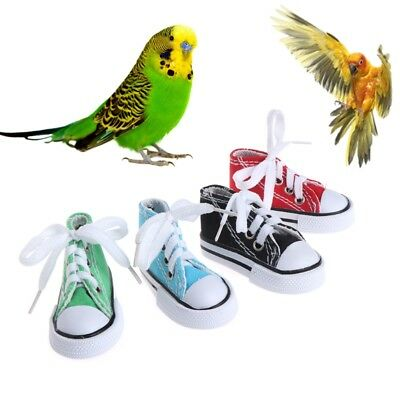 Mini Canvas Shoes Bird Toys Chew Bite Decoration Hanging Cage Funny Parrot Craft