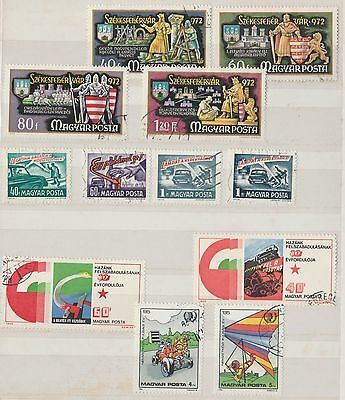 HUNGARY COLLECTION on Album Page Road Safety, etc VFU as per scan #