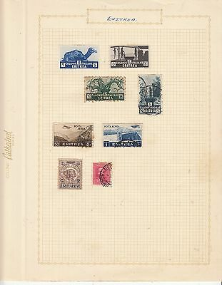 ERITREA EARLY COLLECTION on old album Page MINT/USED..
