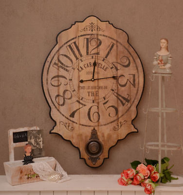 Large Wall Clock & Pendulum French Country House Style Vintage Kitchen Clock