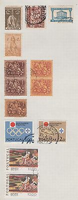 PORTUGAL Olympics, etc on Old Book Pages (As Per Scan-pg folded) #