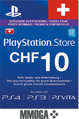 10 CHF PlayStation Guthaben Key - PS4 PS3 PS Vita PSN Code - [Schweiz Only!]