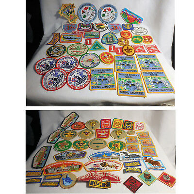 LOT of 98 BSA Cub / Boy Scouts of America 80 Badges Patches 18 Misc Items ETC