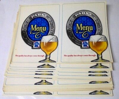 Vintage Lot of 25 Unused NOS Vintage Beer Menu Covers Pabst Blue Ribbon Beer