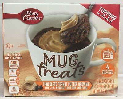 Betty Crocker Mug Treats Chocolate Peanut Butter Brownie with PB Topping 13.9oz