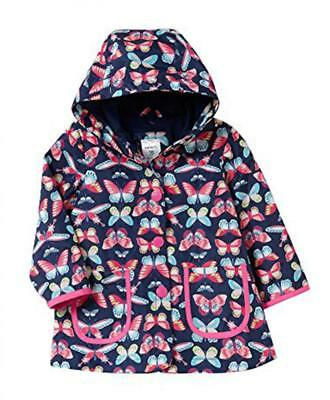 Carter's Girls' Multi Color Butterfly Rain Jacket Size 4 5/6 7/8 $44
