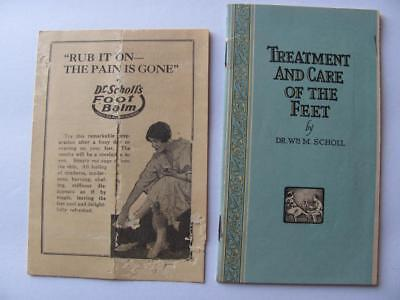 Dr Scholls Foot Care Products Balm 1920s Advertising Catalog Brochure/Price List
