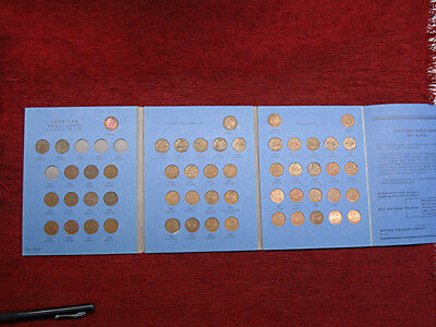 Canada Small Cents Set 1920 - 1972 >50 Diff. Dates With Nice Folder