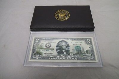 2003 Green Seal $2 Dollar Bill Uncirculate Authentic Legal Tender 2 Notes