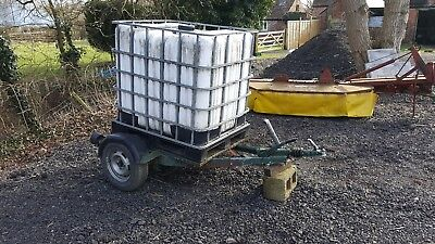 Car Tractor water bowser tank tanker trough surface water trailer