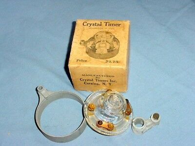GLASS Crystal NOS Vintage Antique Model T Ford Timer Distributor Cap & Rotor