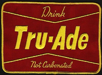 Vintage uniform patch DRINK TRU ADE NON CARBONATED large size unused n-mint cond
