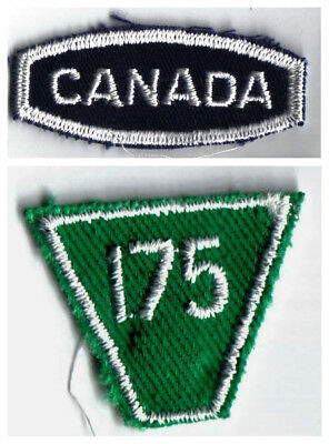 Girl Guide Scout Canada Patch & Unit 175 Patch 1970s