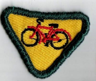 Girl Guide Scout Bicycle Patch 1970s