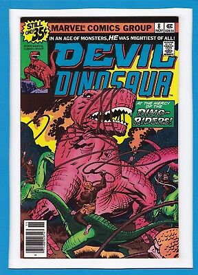 "Devil Dinosaur #8_Nov 1978_Nm Minus_""at The Mercy Of The Dino-Riders""_Jack Kirby"