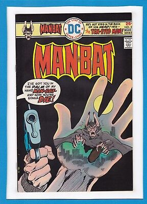 """Man-Bat #2_March 1976_Near Mint Minus_""""fugitive From Blind Justice""""_Bronze Age!"""