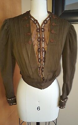 Vintage Antique 1800s Victorian Brown Bodice