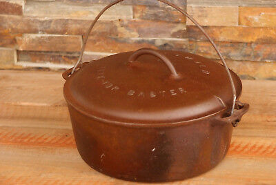 Vintage Griswold No 9 Cast Iron Tite Top Baster Lid and Pot Erie Pennsylvania